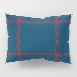 Red, White & Blue Plaid Tartan Pattern Pillow Sham