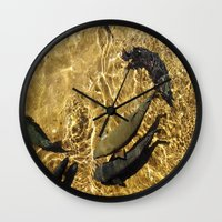 trout Wall Clocks featuring Trout by Impromptu;