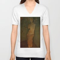 virgo V-neck T-shirts featuring VIRGO by lucborell