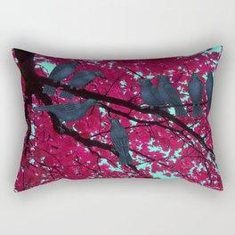 autumn crows, red maple Rectangular Pillow