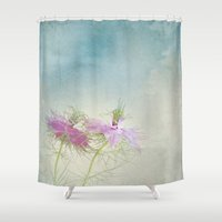 twins Shower Curtains featuring Twins by aRTsKRATCHES