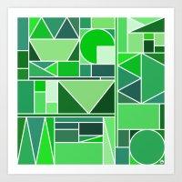 Kaku Green Art Print