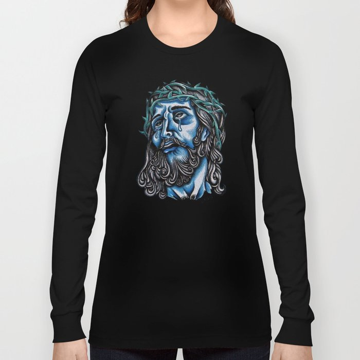 The Blue Jesus  Long Sleeve T-shirt