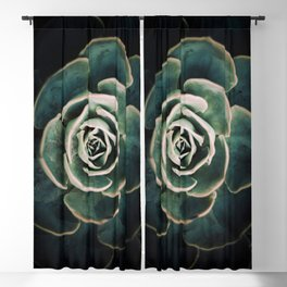 DARKSIDE OF SUCCULENTS IV Blackout Curtain