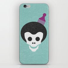 Skull with Fro. iPhone & iPod Skin