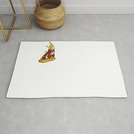 Funny Pineapple Pizza  print Rug