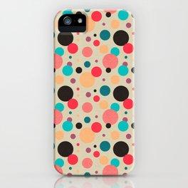 Multicolored Geometric Polka Dot Pattern iPhone Case