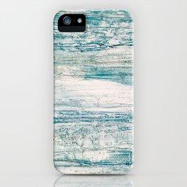 Sea Foam Blue Acrylic Textured Painting iPhone Case
