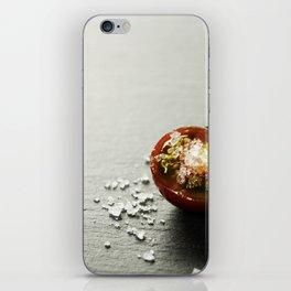 Fresh grape tomatoes with salt iPhone Skin