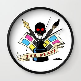 Comics 'til Death Wall Clock