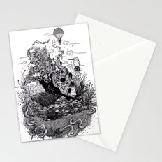 Land of the Sleeping Giant (ink drawing) Stationery Cards