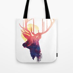 The burning sun Tote Bag