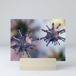 Virus cells is touching Mini Art Print