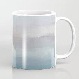 Light Gray, Mauve, Turquoise Aqua Blue Print Modern Wall Art, Abstract Painting Coffee Mug