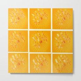 Taking Flight - Yellow Orange & Red Palette Metal Print