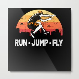 Parkour Run Jump Fly Metal Print