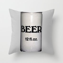 BEER ON GREY Throw Pillow