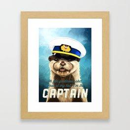 Captain Otter Framed Art Print