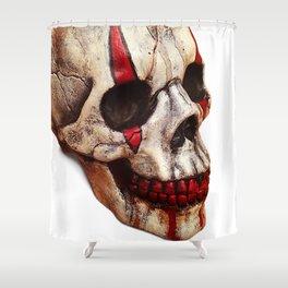 Circus Clown Skull Shower Curtain