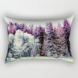 Tiny Cabin Among The Large Forest, Montana Rectangular Pillow