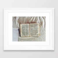 bible Framed Art Prints featuring Bible by DavidElSquid