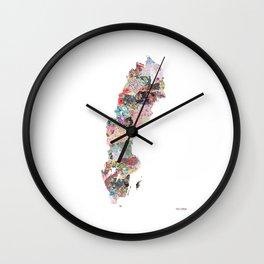Sweden map Wall Clock