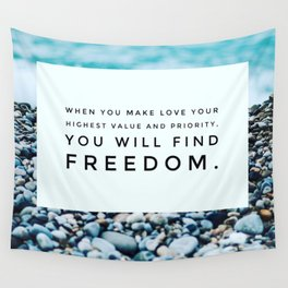 Love Brings You Freedom Wall Tapestry