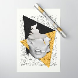 collage art / Faces Wrapping Paper