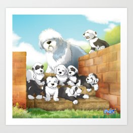 oes puppies Art Print
