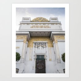 Secession building in Vienna Austria art nouveau Art Print