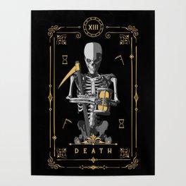 Death XIII Tarot Card Poster
