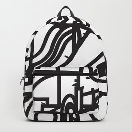 Stained Glass Patter (Black outlines) Backpack