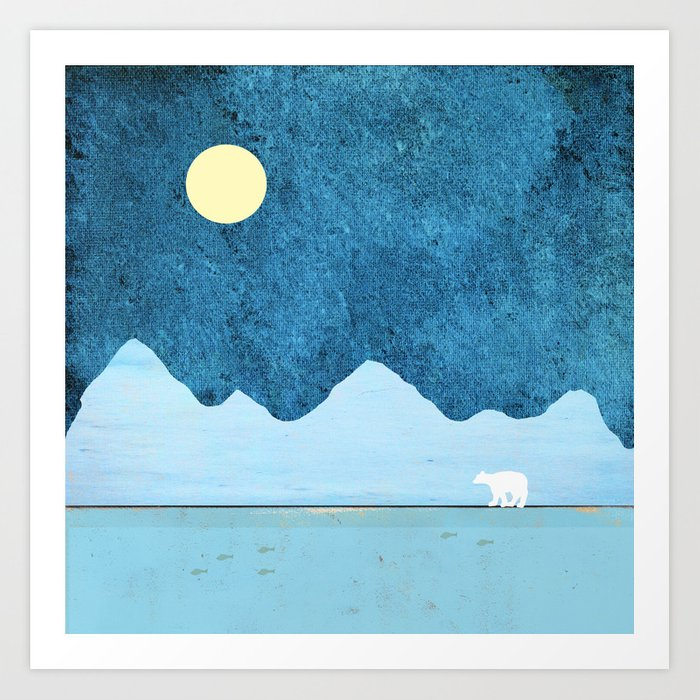 Fishing in the Arctic Art Print