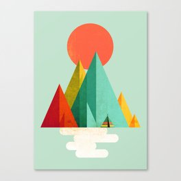Little Geometric Tipi Canvas Print
