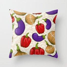 Cute vegetable pattern Throw Pillow