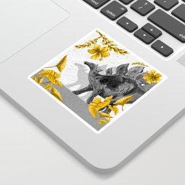 Jurassic Stegosaurus: Gold & Gray Sticker