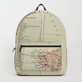 Old Map of the West of France Backpack