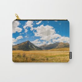 New Zealand landscape with golden grasses in South Island Carry-All Pouch