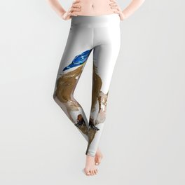 Bluebird Cow Leggings