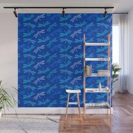 Dragonfly Summer Blues Wall Mural