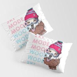 Dog Ski Mode Pillow Sham