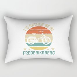 Frederiksberg I'd rather be in denmark. TShirt Bicycle Shirt Bike Gift Idea  Rectangular Pillow