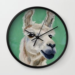 Fluffy White Wise One Wall Clock