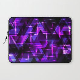 Violet horizontal strict stripes of sparkling blueberry triangles. Laptop Sleeve