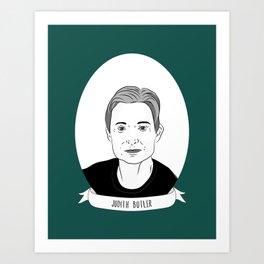 Judith Butler Illustrated Portrait Art Print