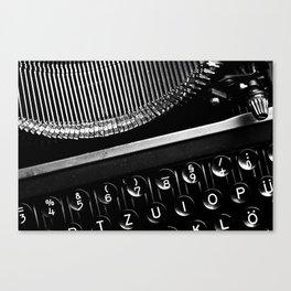 Typewriter No.3 Canvas Print
