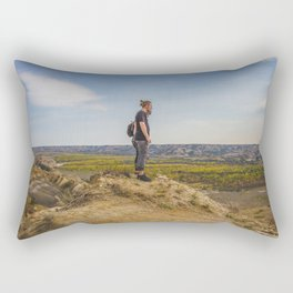 Badlands Overlook, Theodore Roosevelt NP, ND 36 Rectangular Pillow