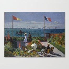 Garden at Sainte-Adresse Canvas Print