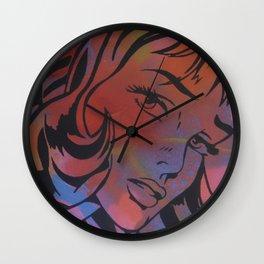 Pop Art Spray Paint Stencil Wall Clock