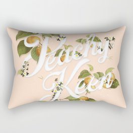 Peachy Keen : Peach Rectangular Pillow